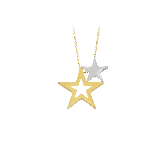 Star Pendant 14 Carat Gold Necklace