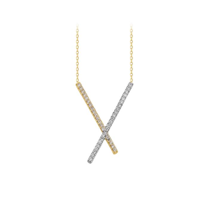 Gemmed 14k Gold Necklace