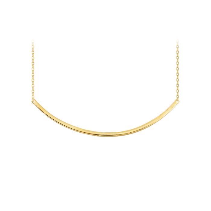 Women's Gemmed Stick Pendant 14 Carat Gold Necklace