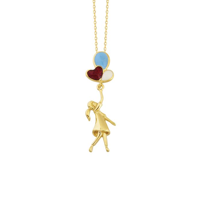 Balloon Pendant Gold Necklace