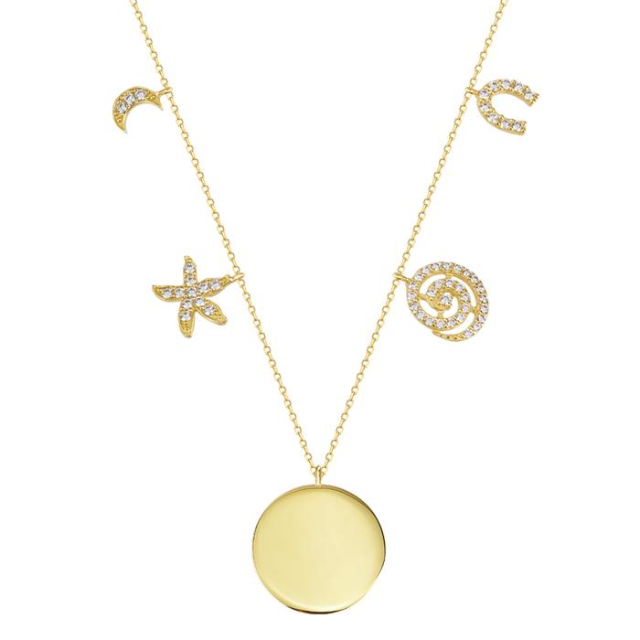 Women's Gemmed 8 Carat Gold Necklace