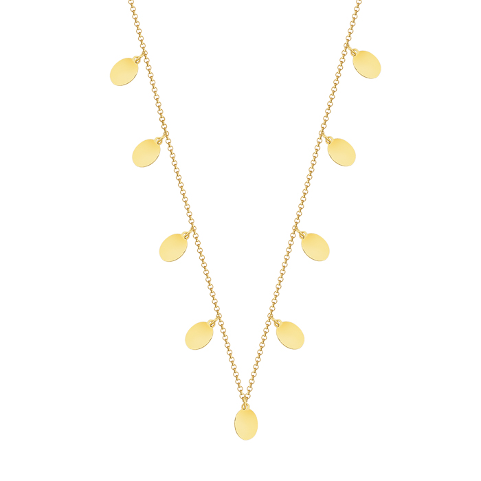 Women's Drop Design 8 Carat Gold Necklace