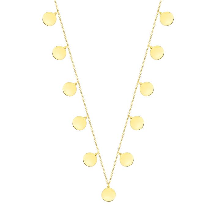 Women's Drop Design 8 Carat Gold Necklace