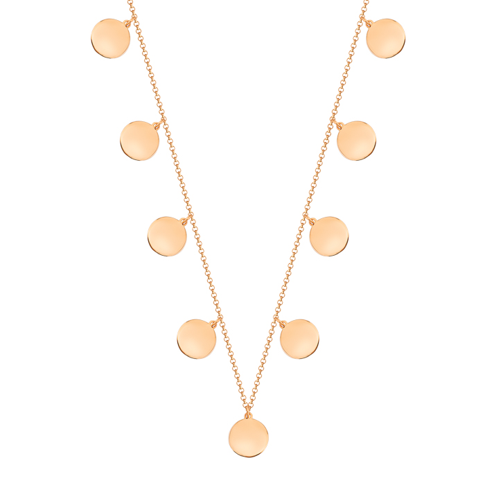 Drop Gemmed 8 Carat Gold Necklace
