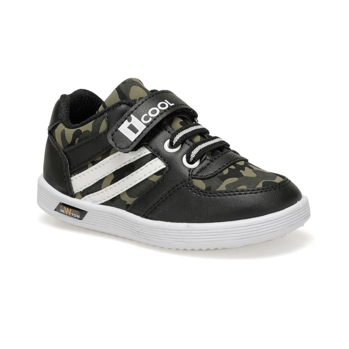 حذاء سنيكرز أسود كاكي بطبعة عسكرية ولادي