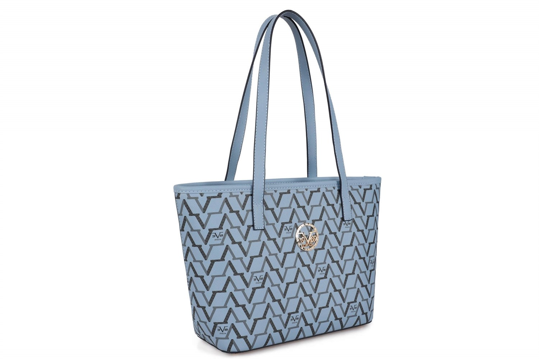 حقيبة زرقاء مزخرفة نسائية