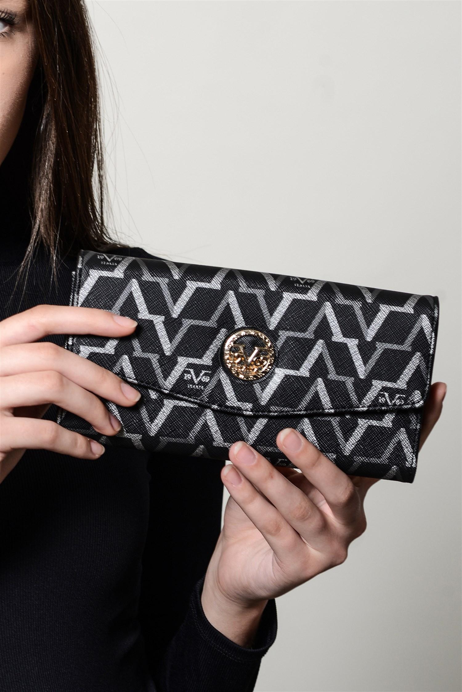 محفظة سوداء مزخرفة نسائية