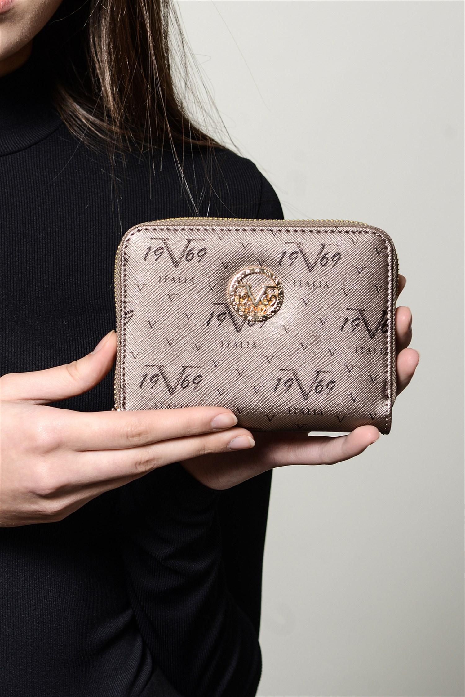 Women's Patterned Platinum Wallet