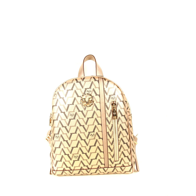 حقيبة ظهر ذهبي مزخرفة نسائية