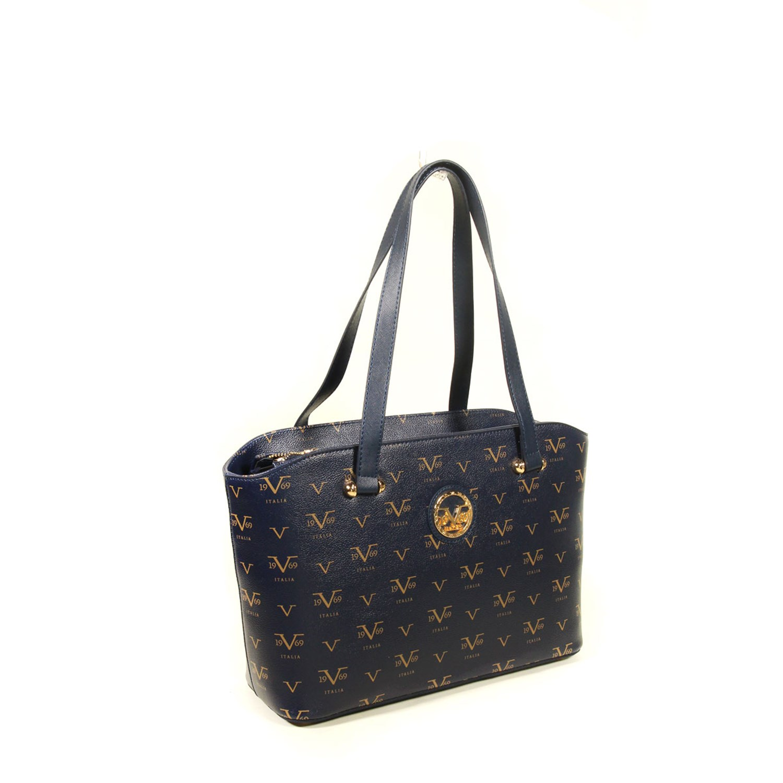 Women's Patterned Navy Blue Bag