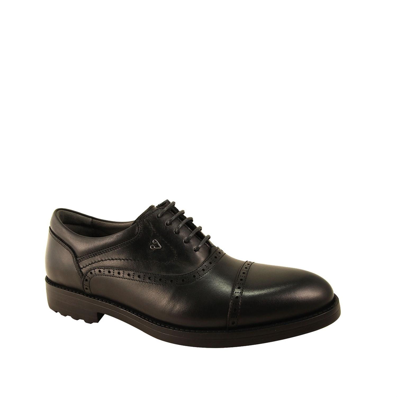 Men's Black Leather Comfort Shoes