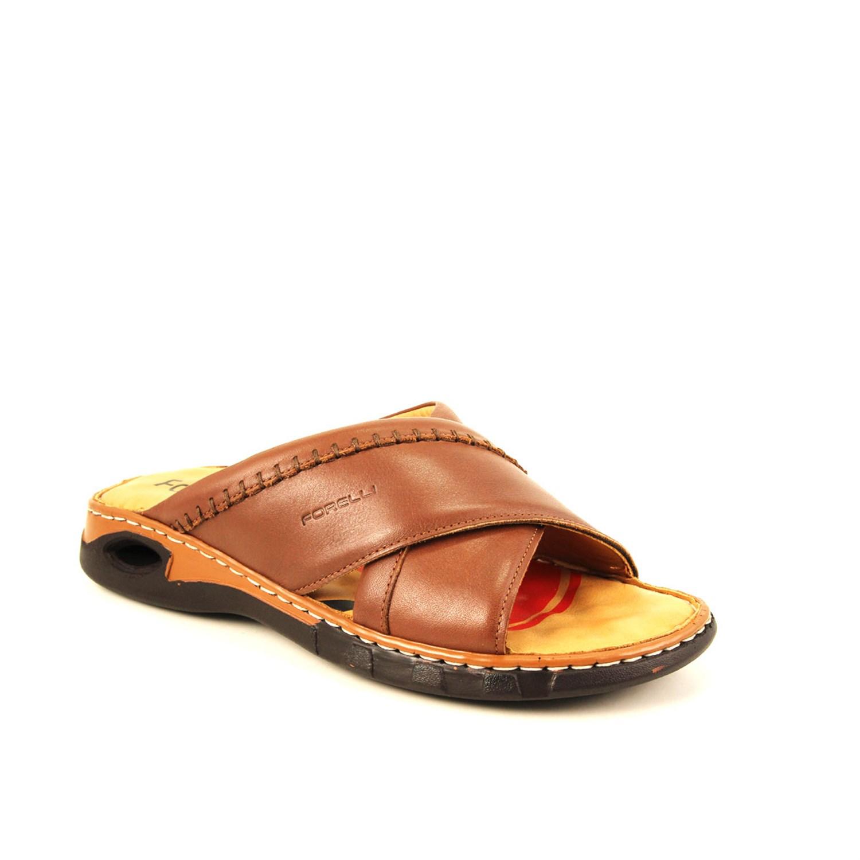 Men's Ginger Leather Slippers
