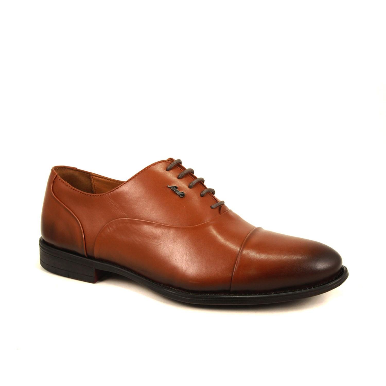حذاء كلاسيك جلد بني فاتح رجالي