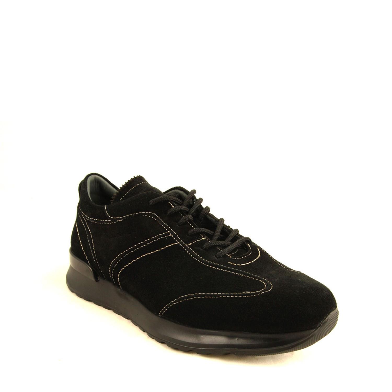 Men's Black Leather- Nubuck Shoes