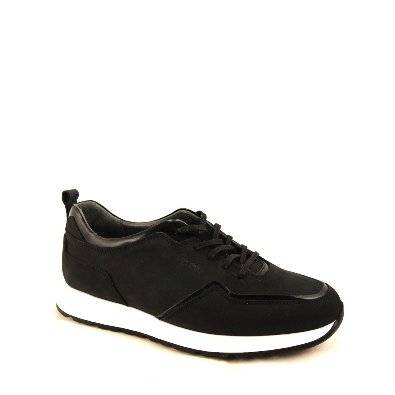 Men's Black Nubuck Comfort Shoes