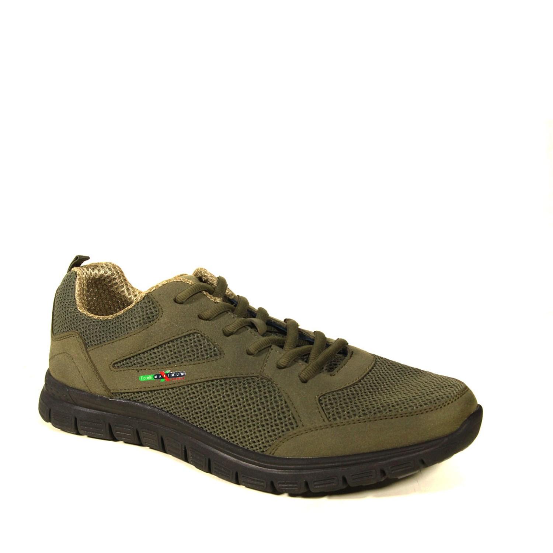 Men's Lace-up Suede Detail Khaki Shoes