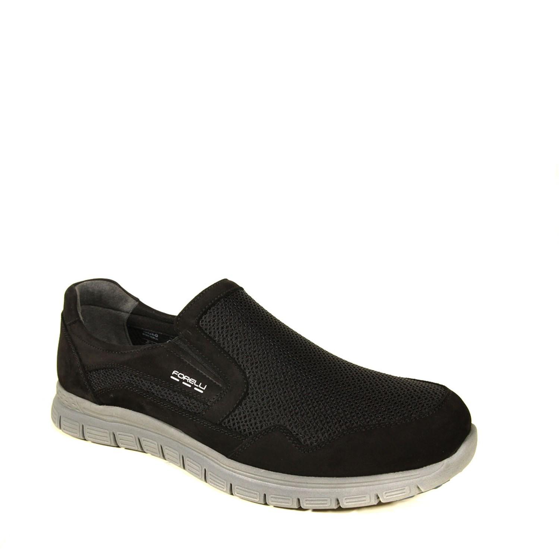 Men's Black Nubuck Leather Sport Shoes