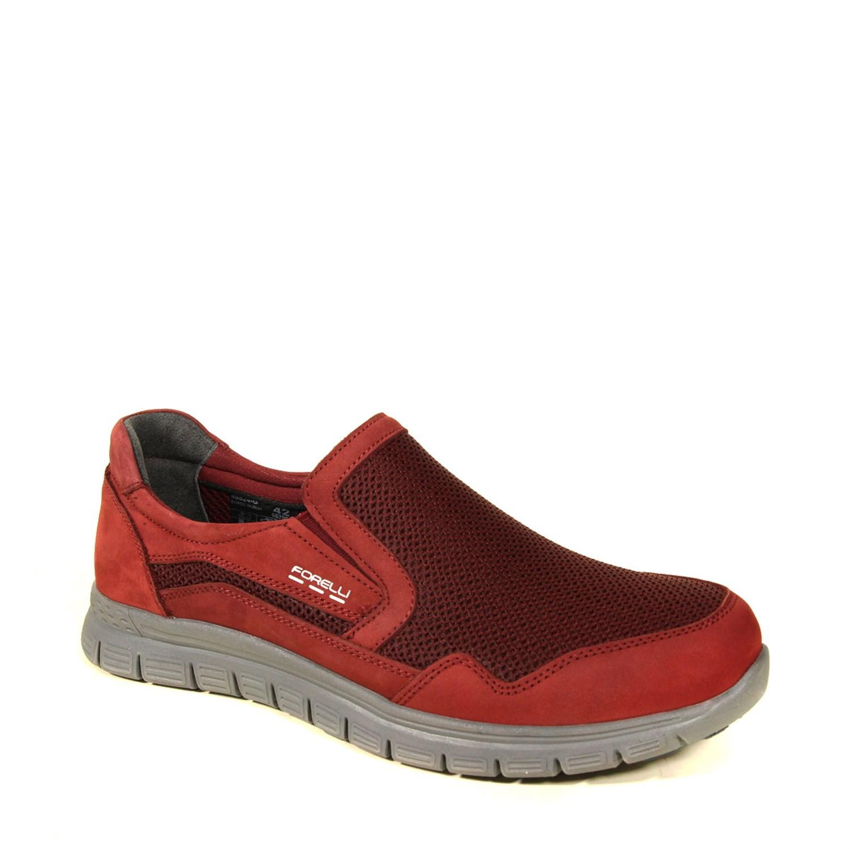Men's Claret Red Nubuck Leather Sport Shoes
