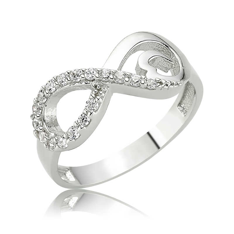 Women's Infinity Design Silver Ring