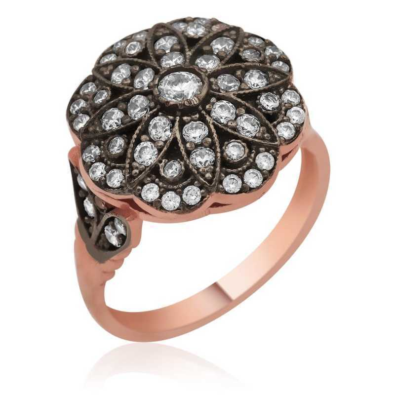 Women's Floral Design Silver Ring