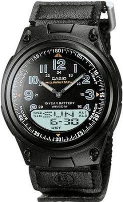 ساعة يد رياضية سوداء بإطار دائري رجالي