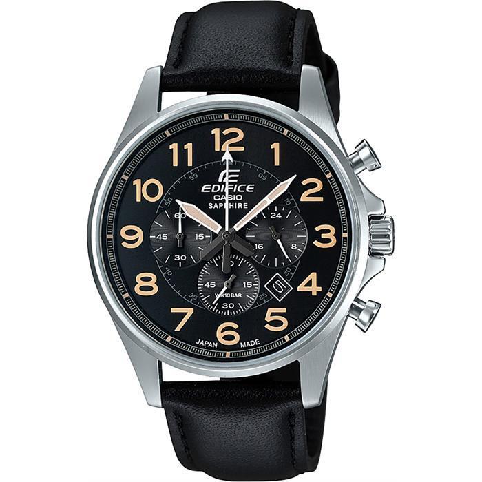 ساعة يد سوداء بإطار معدني رجالي