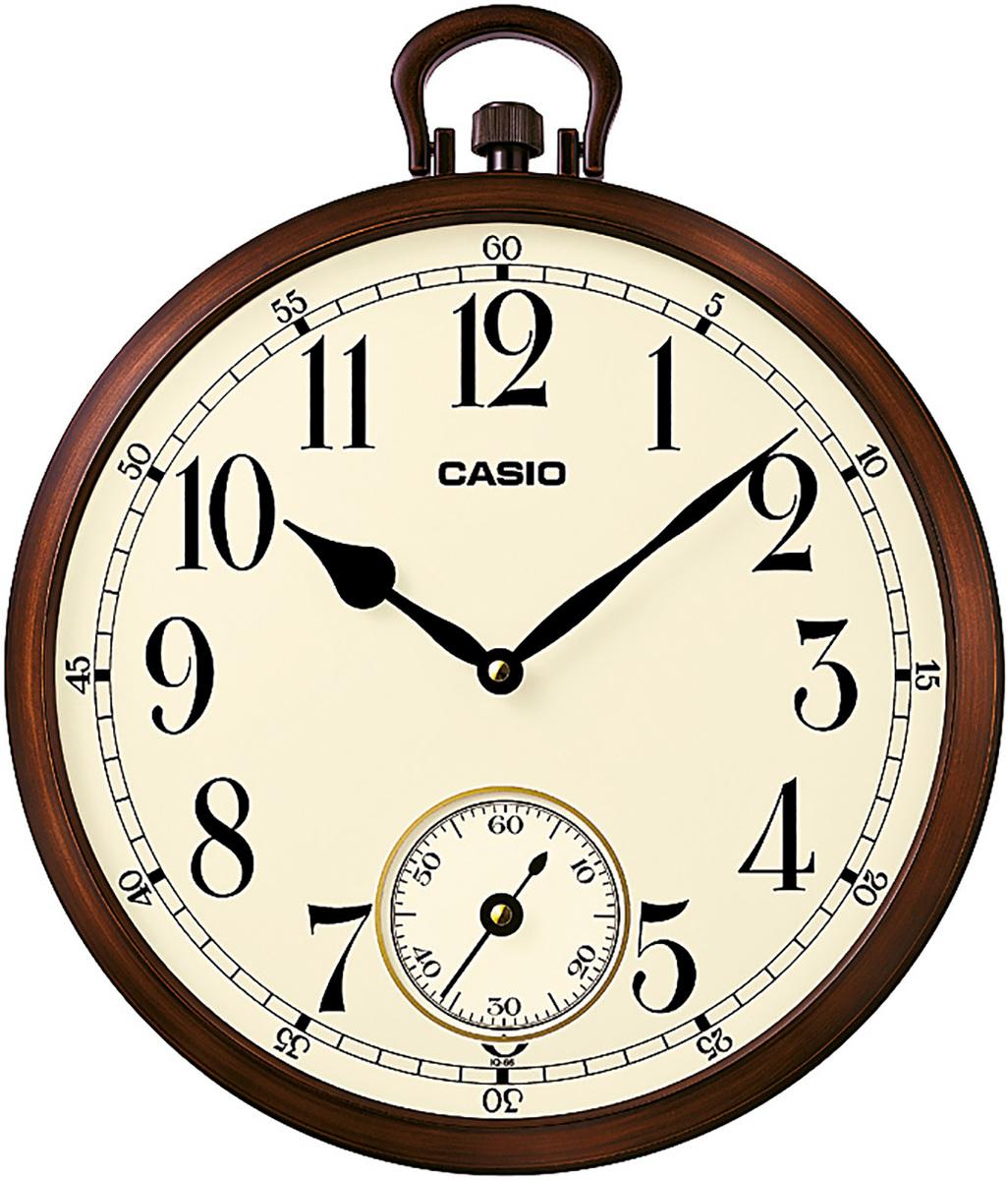 ساعة حائط بنية دائرية