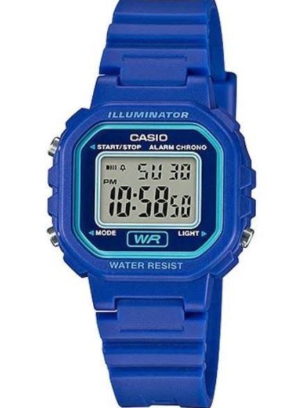 ساعة ديجيتال زرقاء نسائية