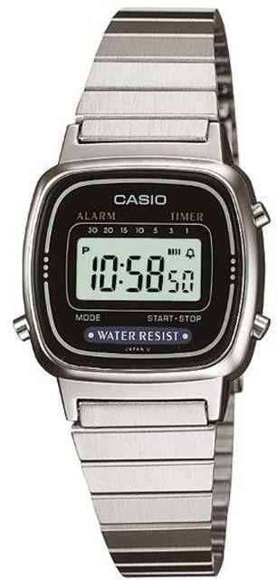 ساعة رقمية معدنية فضية نسائية