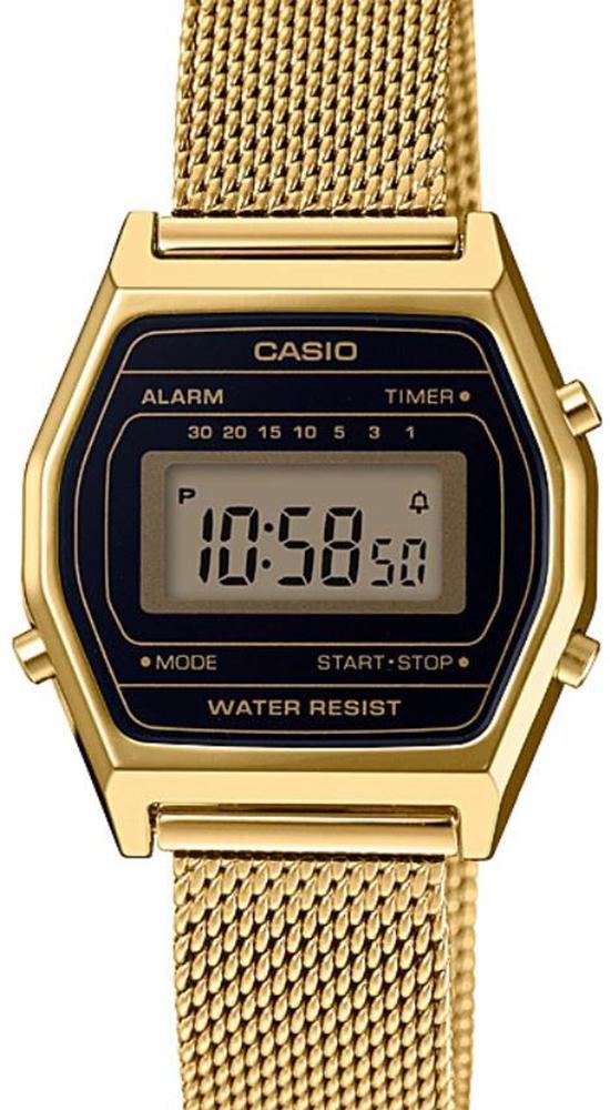 ساعة رقمية معدنية قش ذهبي نسائية