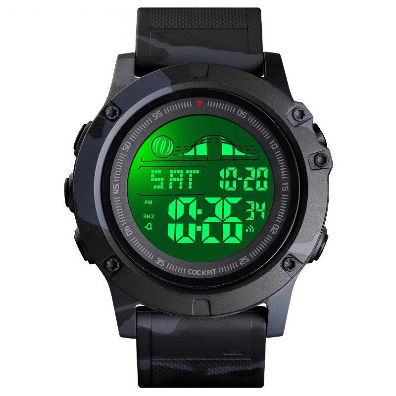 ساعة رقمية بإطار رياضي رجالي