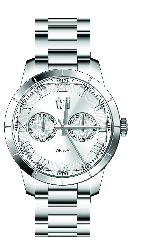 ساعة معدنية فضية بإطار معدني نسائية