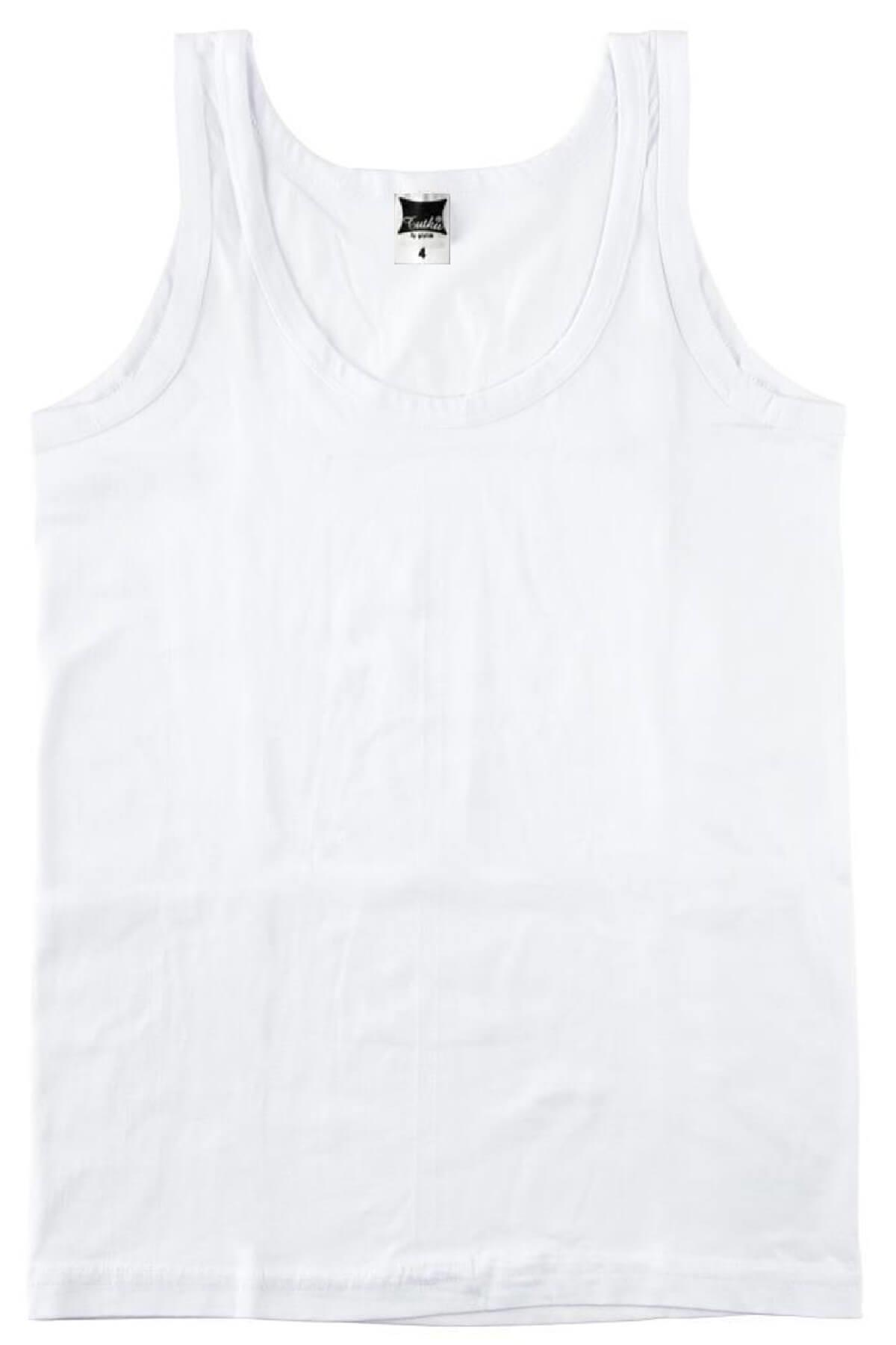 Boy's Sleeveless Undershirt- 6 Pieces