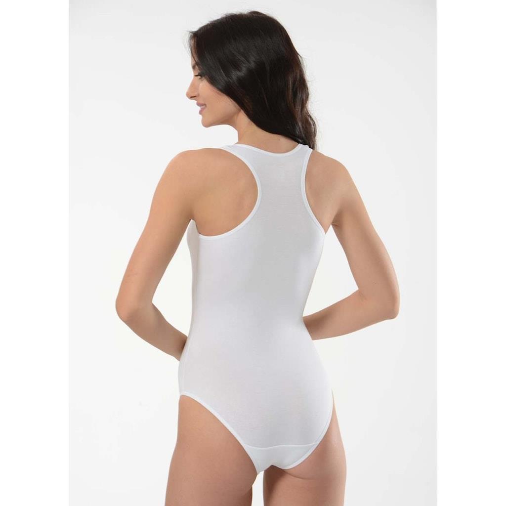 Women's Wide Strap Sport Snap Crotch Bodysuit