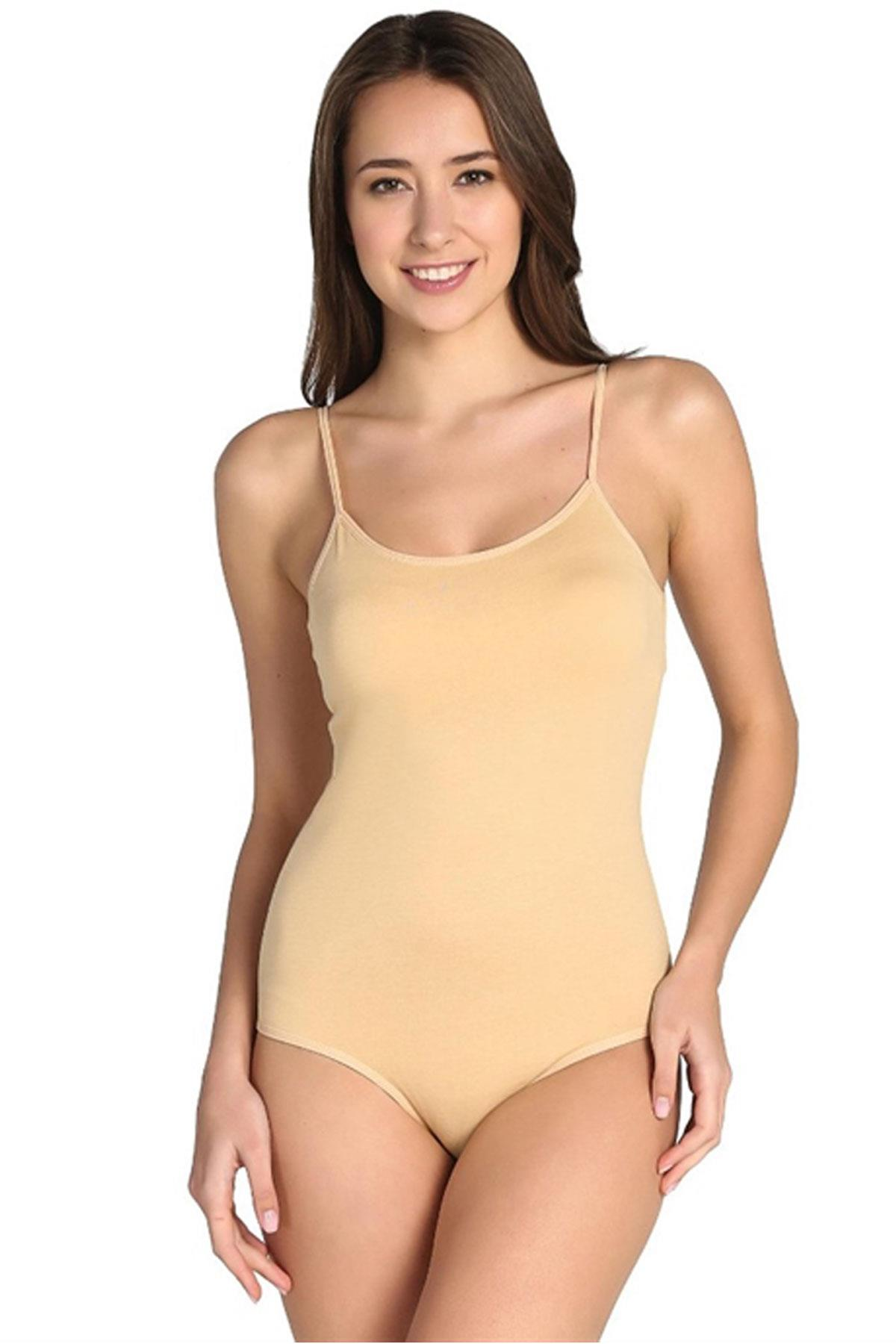 Women's Thin Strap Snap Crotch Bodysuit- 2 Pieces