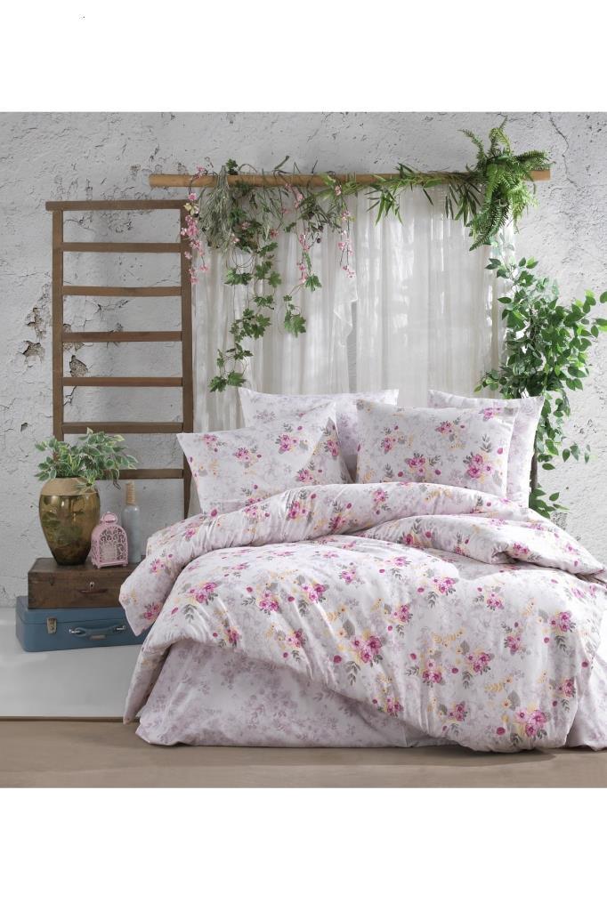 طقم غطاء سرير مزدوج مزخرف- غطاء لحاف: 200*220 سم، ملاية: 240*220 سم، 2 قطعة غطاء وسادة: 50*70 سم