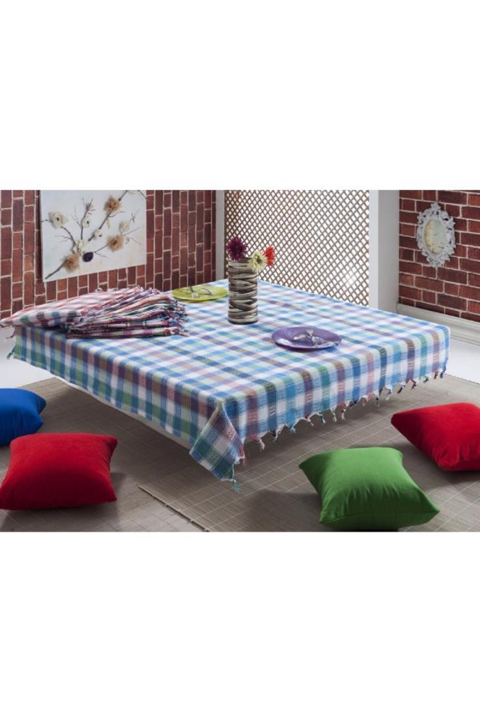 مفرش طاولة متعدد الألوان كلاسيك مزخرف (170*170 سم)