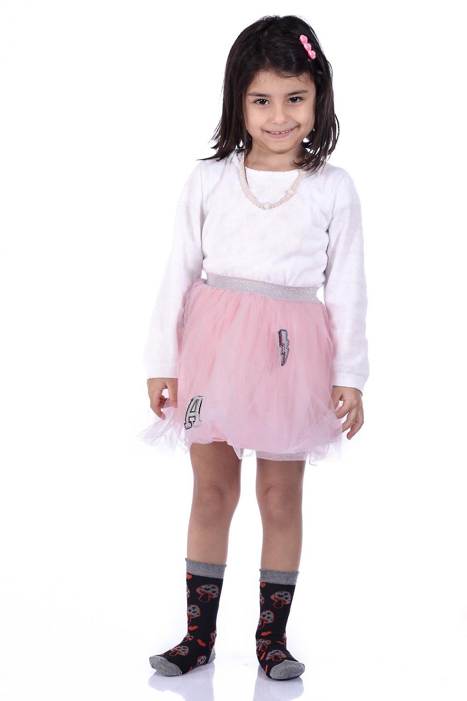 Girl's Patterned Socket Socks- 3 Pairs