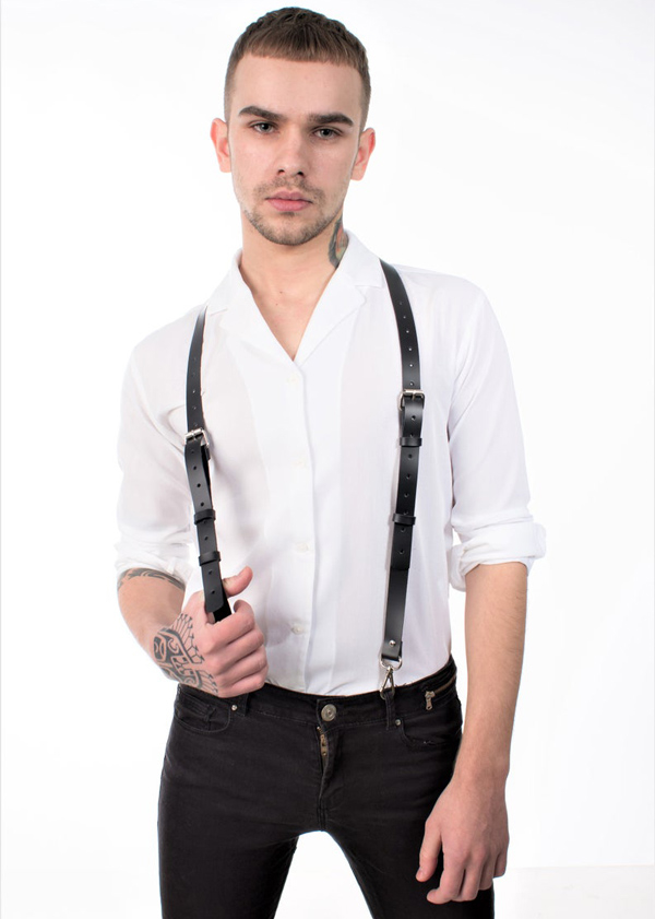 Men's Black Stylish Suspender