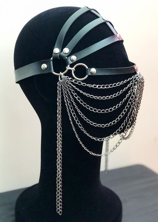 Chain Leather Sexy Mask