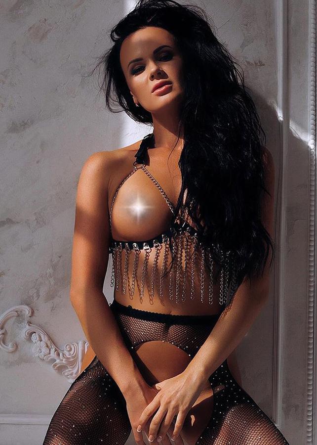 Women's Chain Detail Sexy Bustier