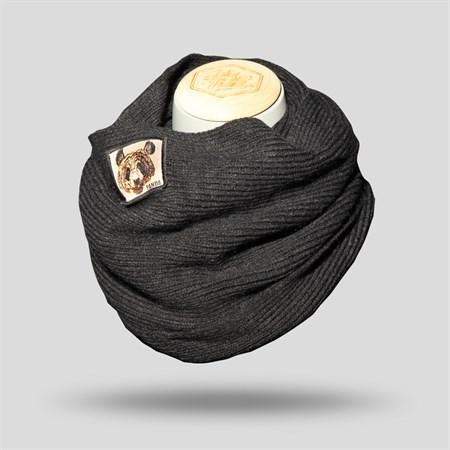 Men's Black Neck Warmer Scarf