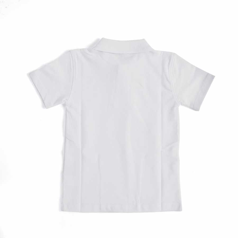 Kid's Short Sleeves White School T-Shirt
