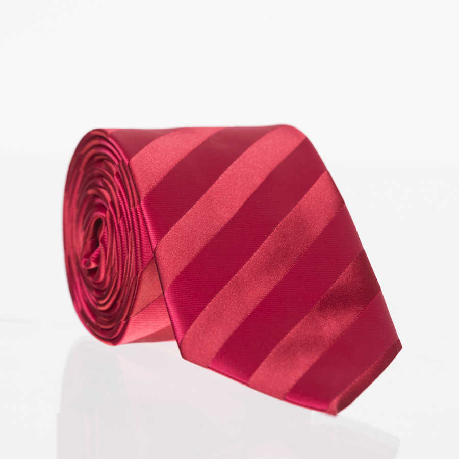 Classic Striped Patterned Woven Tie