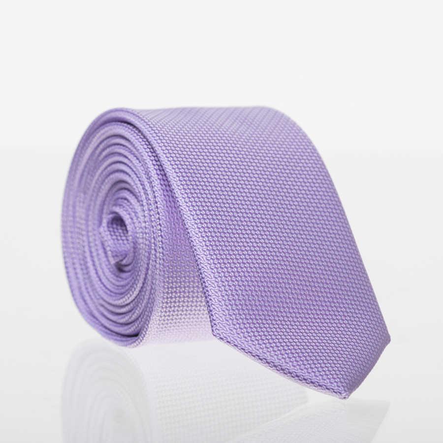 Plain Lilac Woven Slim Fit Tie