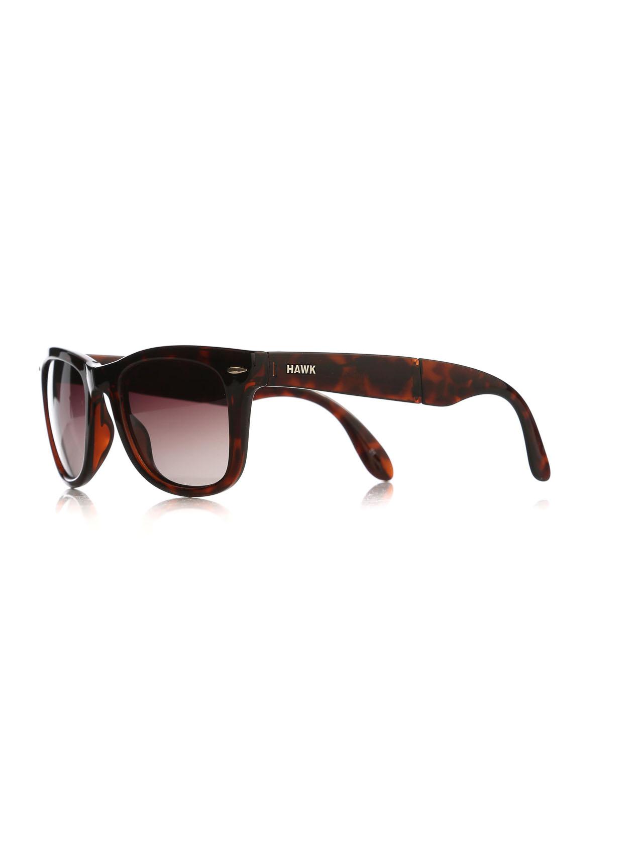 نظارة شمسية بلاستيك بني مزخرفة للجنسين