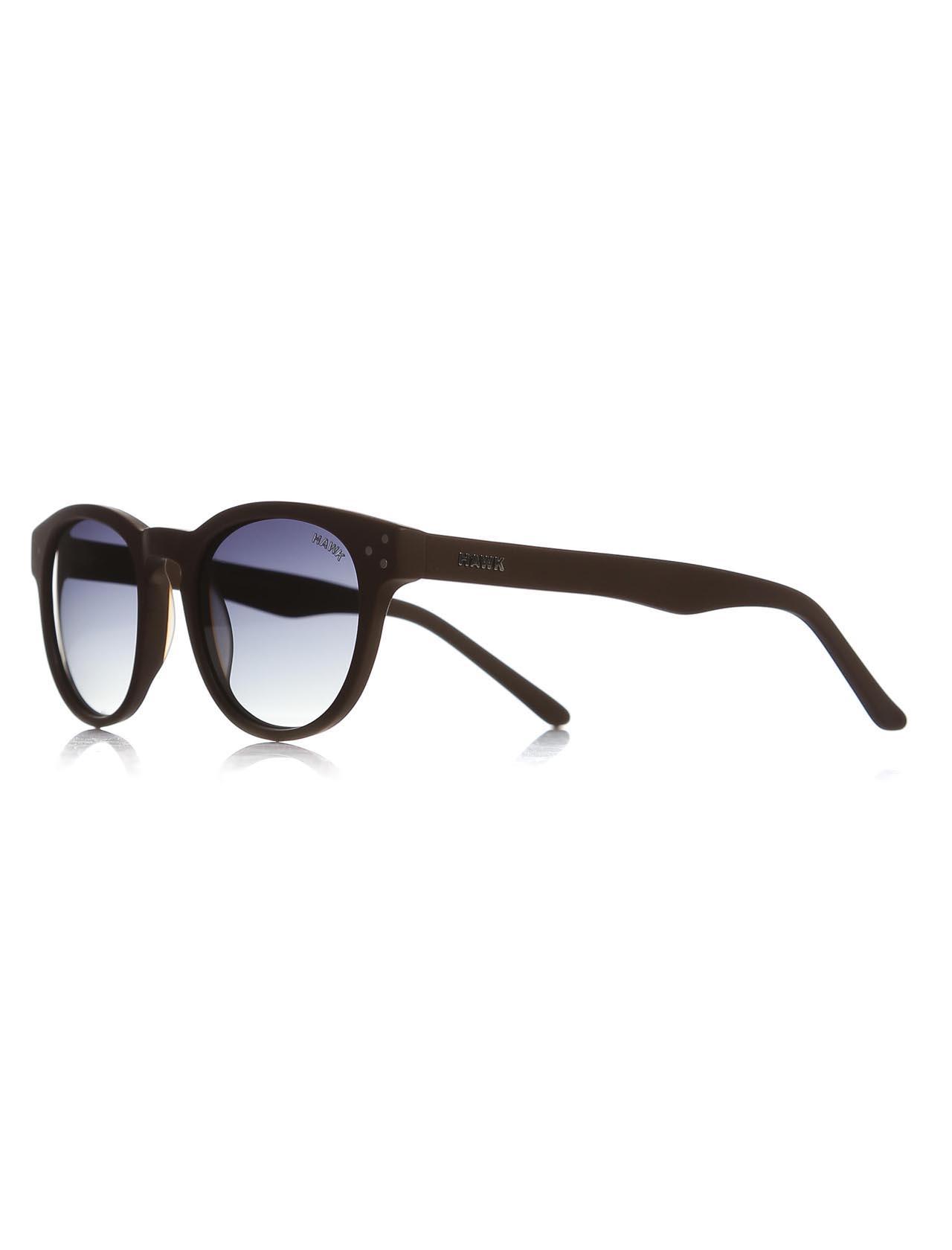 نظارة شمس بلاستيك بني للجنسين