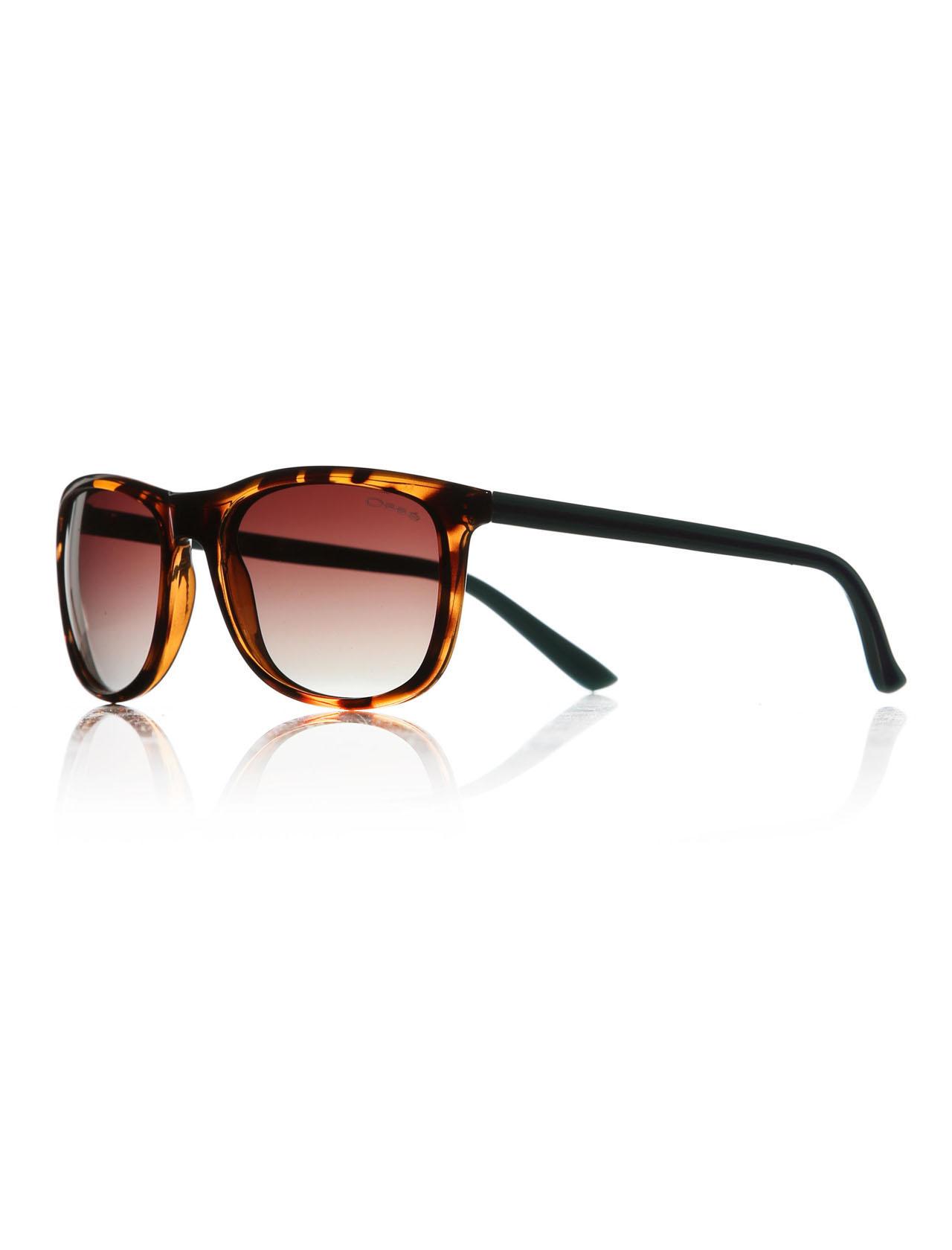 Men's Patterned Plastic Frame Sunglasses