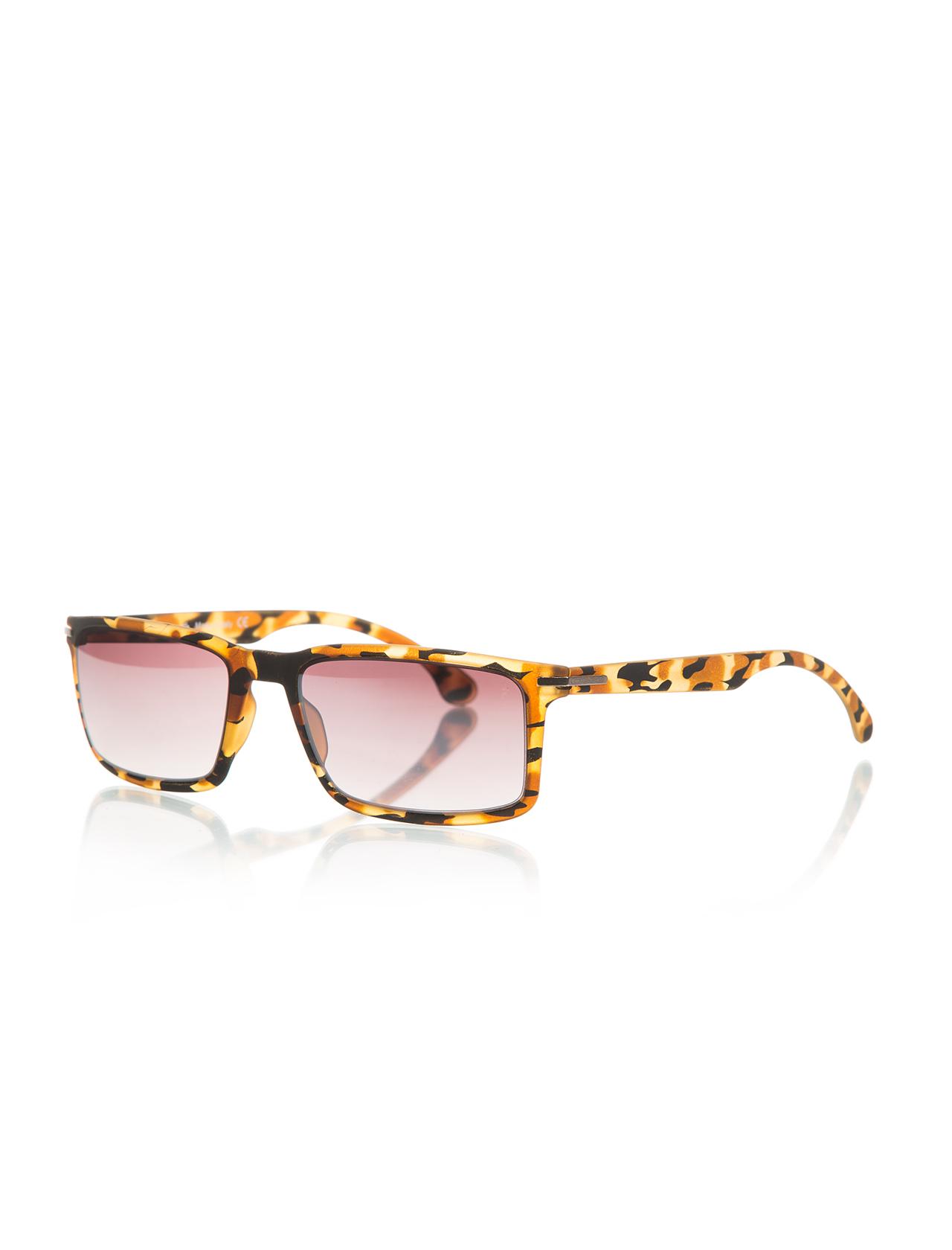نظارة شمسية بإطار أصفر مزخرف للجنسين