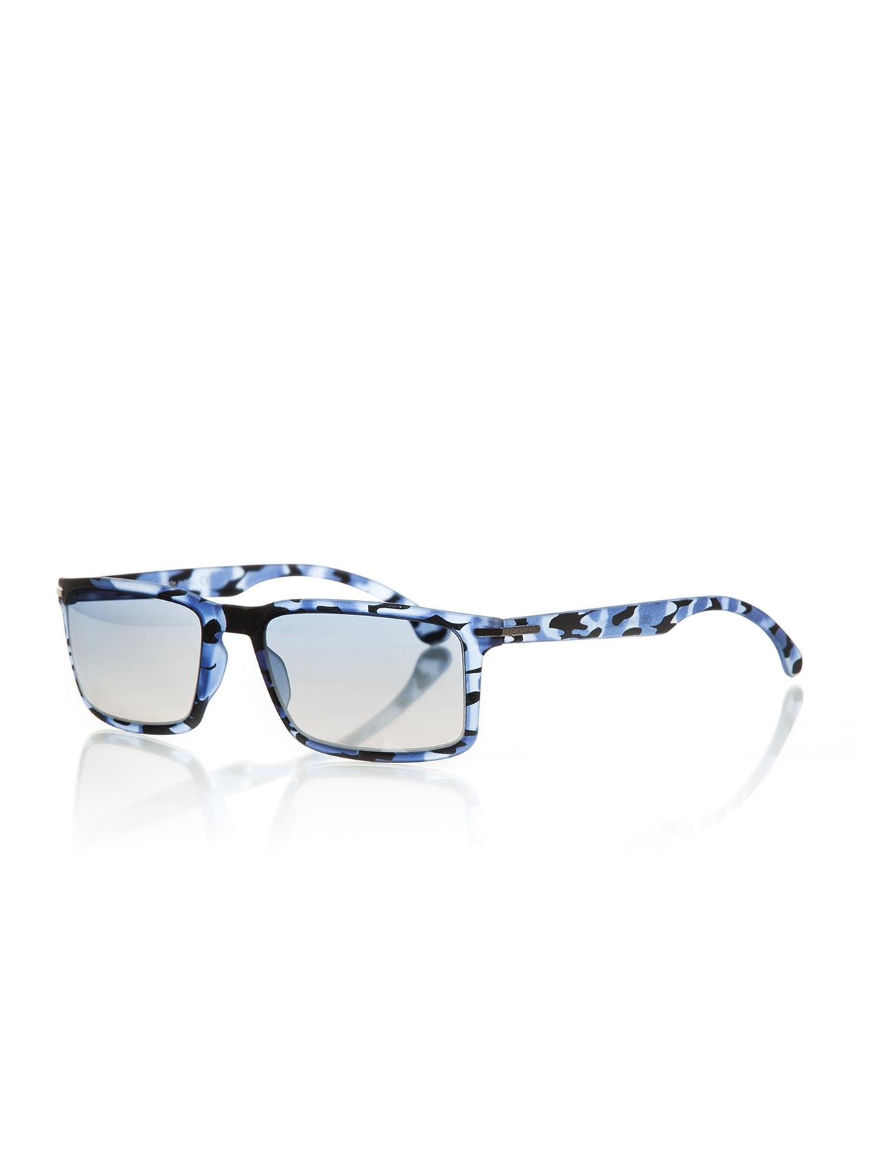 نظارة شمسية بإطار أزرق مزخرف للجنسين
